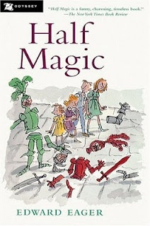 Half Magic by Edward Eager. Only one of my favourite books as a child.