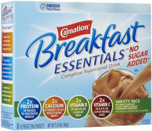 ✔️Carnation Instant Breakfast No Sugar Added, Variety Pack, 8pk - chocolate