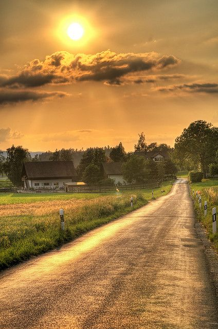 .. a country road.