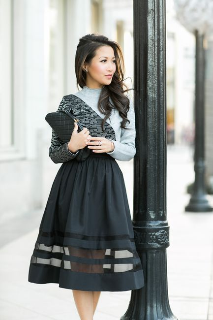 Sheer Bliss :: Faille skirt