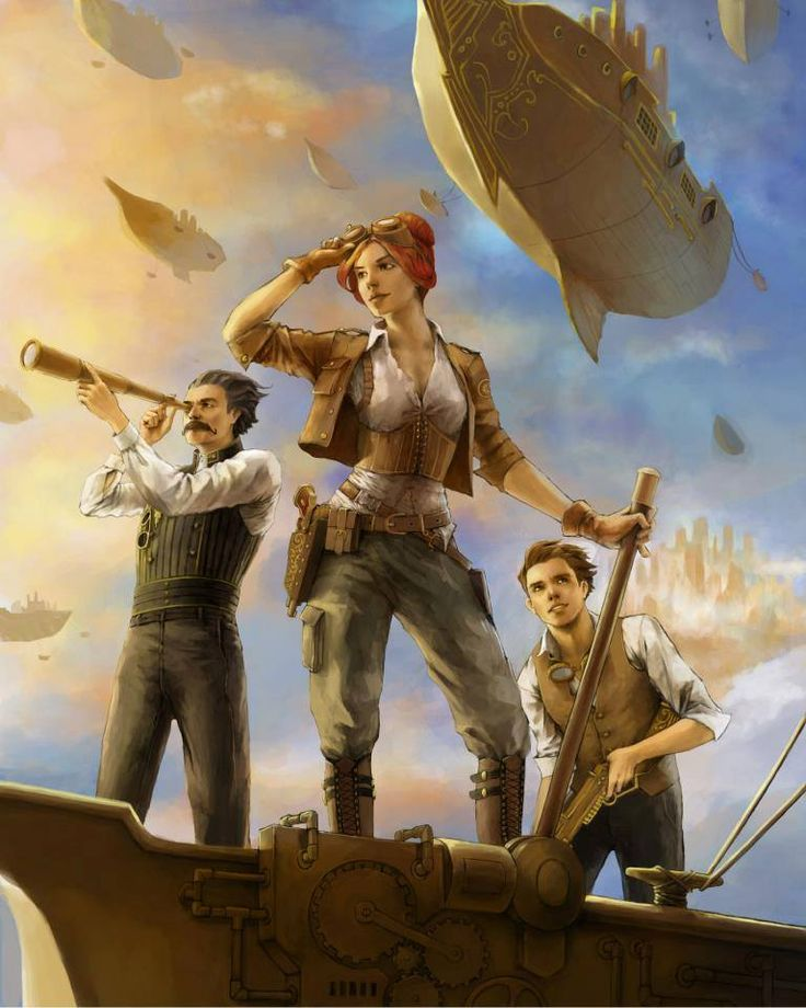 Steampunk Tendencies | Art by Rita Fei #Illustration #Steampunk #Airship