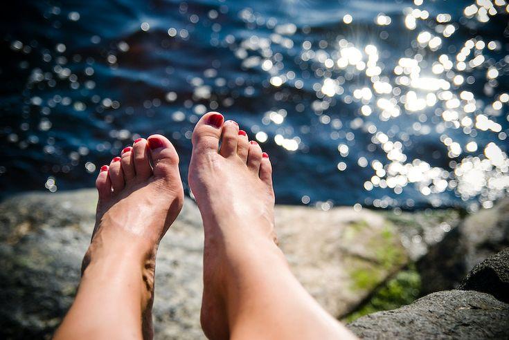 barefoot...