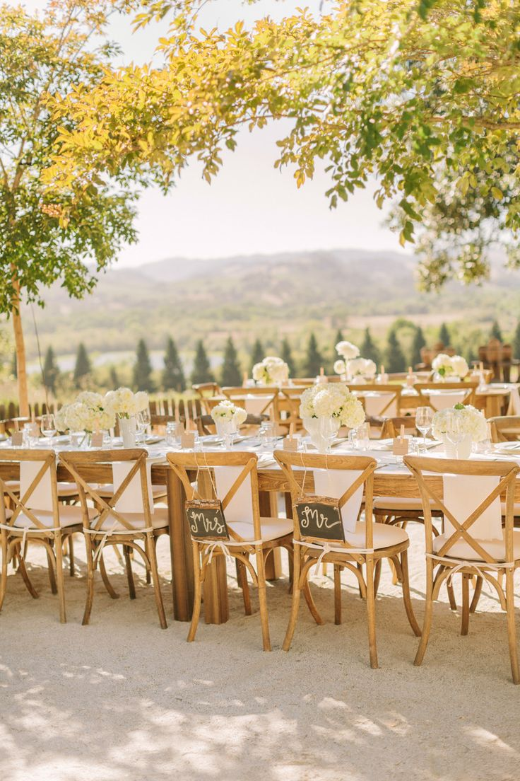 inspiration | outdoor Wedding with yellow flowering trees | via: style me pretty
