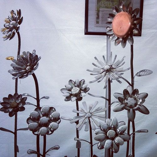 The Salvage Gallery at Corn Hill Fest - Upcycled silverware flowers: http://www.thesalvagegallery.com/
