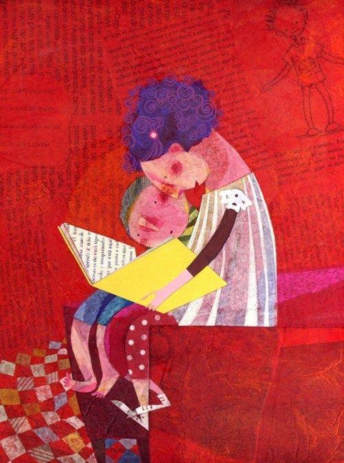 Leyendo juntos se enriquece la lectura (ilustracion de Isabel Hojas)