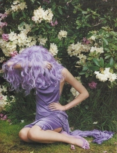 Lavendar hair...  Someday! :)