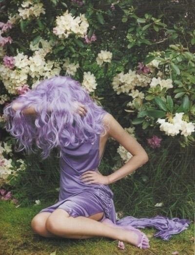 Lavendar hair...  Someday! :)