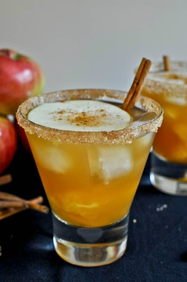 Apple Cider Margaritas I howsweeteats.com