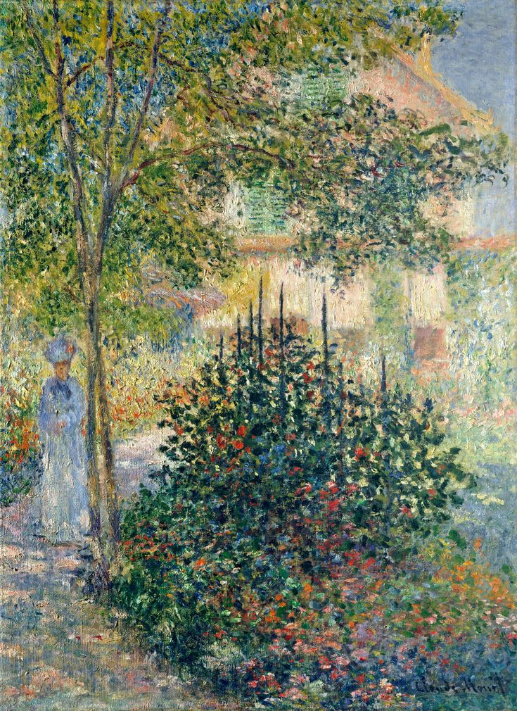 Claude Monet, Camille Monet in the Garden at the House in Argenteuil, 1876 - #art