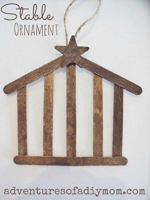 Make a stable ornament for your tree!