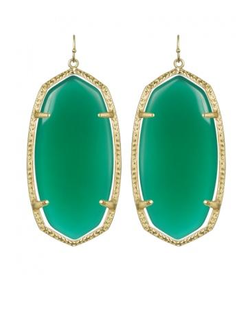 emerald kendra scott earrings