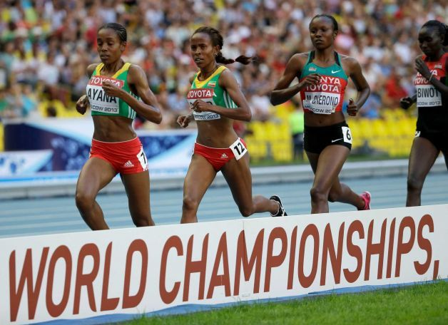 ‪#‎Oromia‬ and ‪#‎Kenyan‬ girls dominated ‪#‎5000m‬ final race, IAAF Moscow 2013. Bronze medal winner Almaz ‪#‎Ayana‬ of Oromia, gold medal winner Meseret ‪#‎Defar‬ of Oromia and silver medal winner Kenya's Mercy ‪#‎Cherono‬, from left, compete in the women's 5000-meter final  Saturday, Aug. 17, 2013. Photo: David J. Phillip, http://www.sfgate.com/sports/article/Meseret-Defar-wins-women-s-5-000-at-worlds-4740369.php#photo-5056942