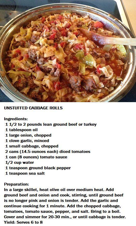 """""""Un-stuffed"""" cabbage rolls"""