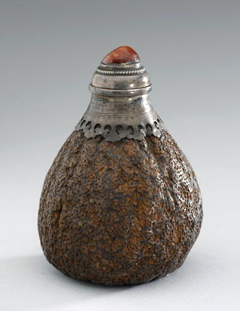 Tangerine skin snuff bottle 1750 - 1900 AD Qing Dynasty China; Asia