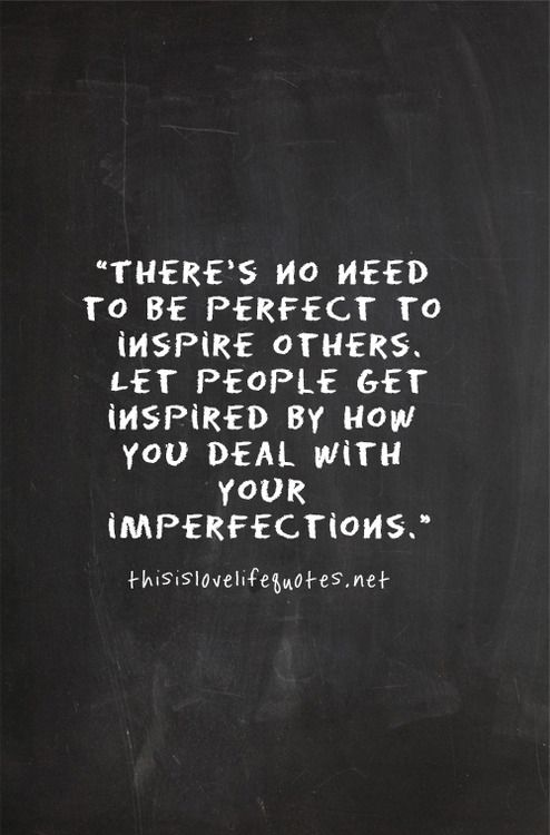 Imperfections - we all have them. And yet He loves us more and more.