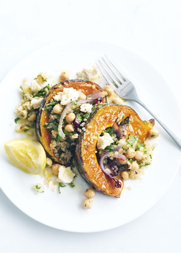Roasted pumpkin, feta and quinoa salad