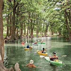 1. Kayak the Medina River Winding through tunnels of towering bald cypress trees on its way to Bandera, the Medina River doesn't get the crowds that flock to the Guadalupe River. So you have most of it to yourself as you spend a couple of hours of bliss in a kayak rented from the Medina River Company, 830/796-3600.