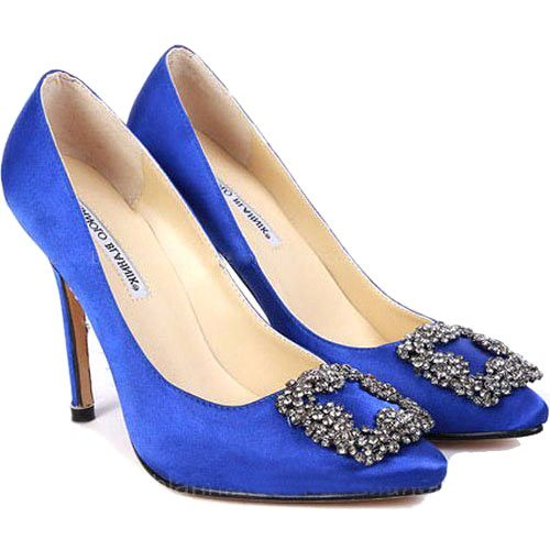 blue manolo blahnik on ebay