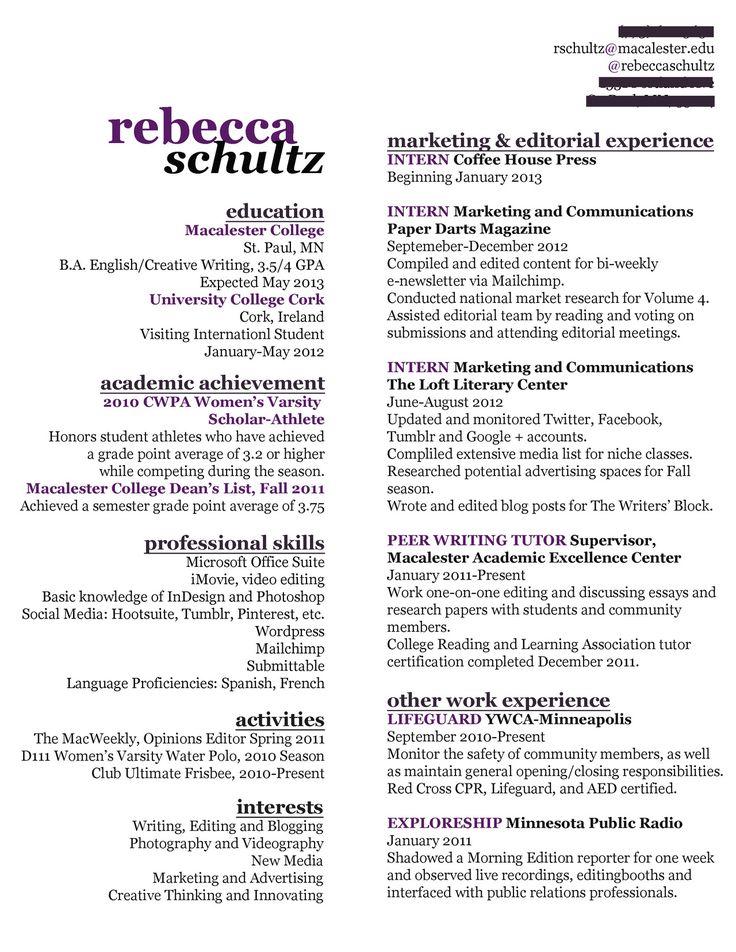 Creative Marketing Resumes. Creative Marketing Resumes Template