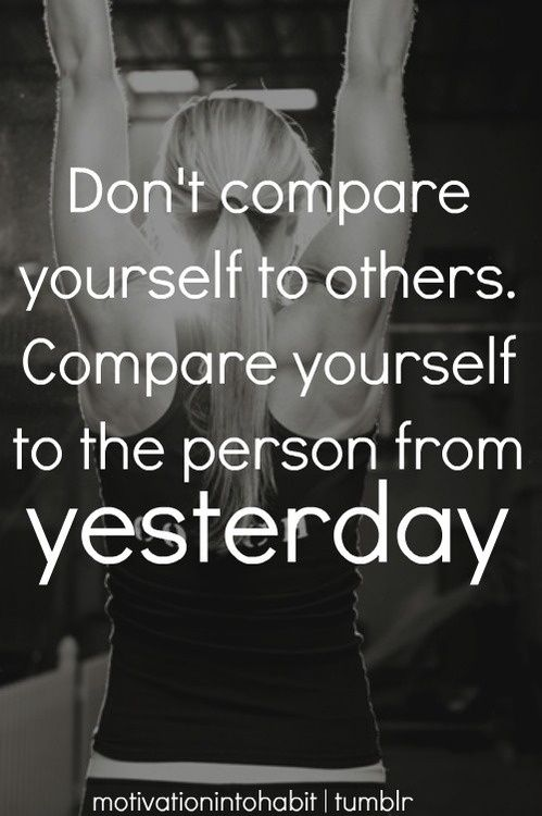 Usually I share a workout during this time for y'all, but I feel this is vital to remember. Once I stopped comparing, I finally felt happy! #quotes #motivation