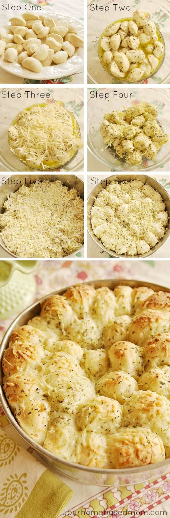 Garlic Cheese Pull-Apart Bread
