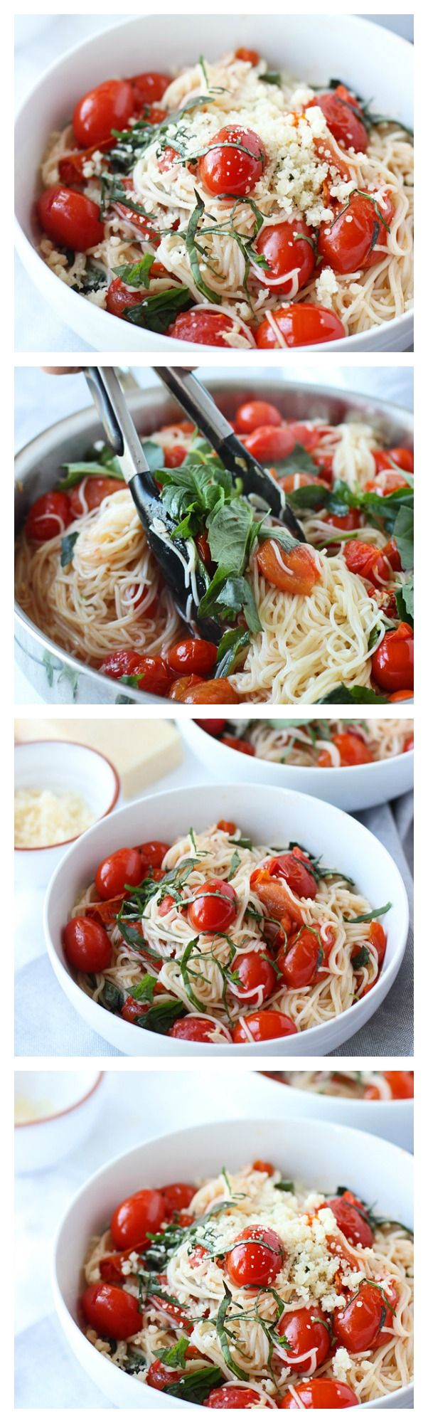 20 Minute Cherry Tomato and Basil Pasta by ohsweetbasil