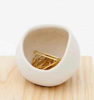 love the bowl and the gold paper clips