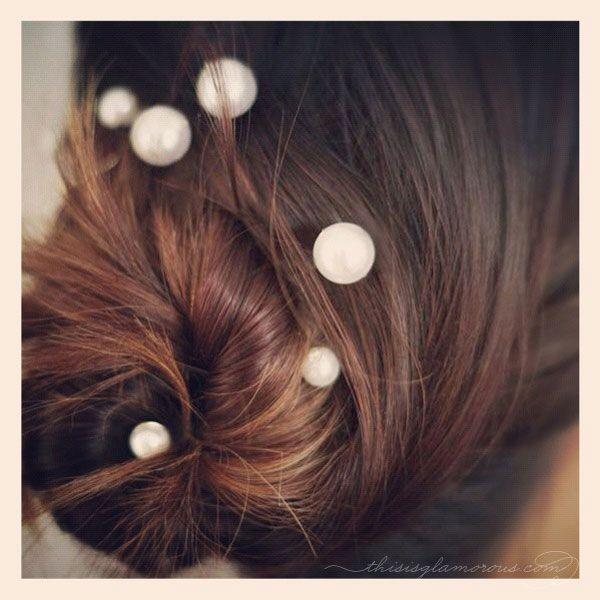 mermaid pearl hairpins