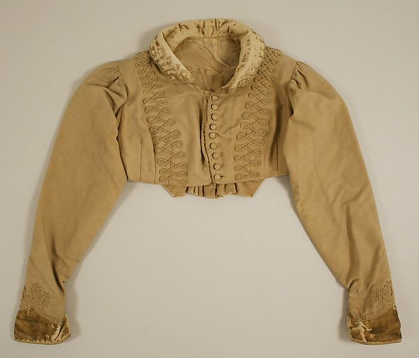 Spencer Date: 1813 Culture: American or European Medium: wool, silk