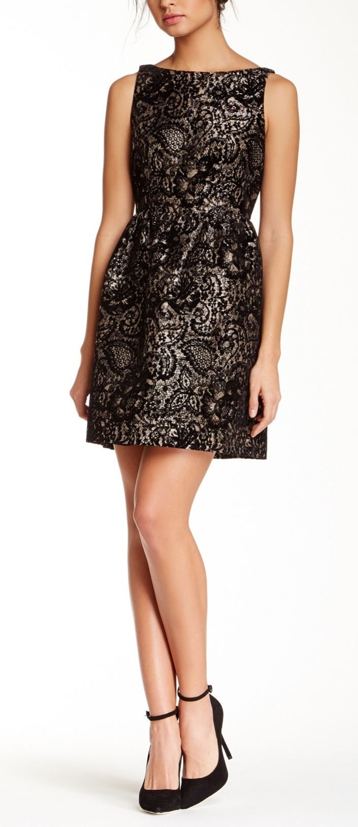 Beautiful fit & flare dress for a Holiday Party