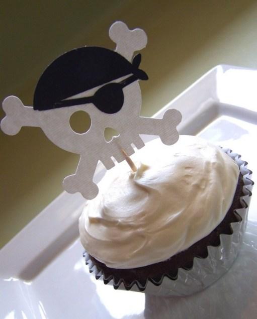 Cupcakes de pirata con calavera