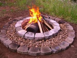 great idea for fire pit