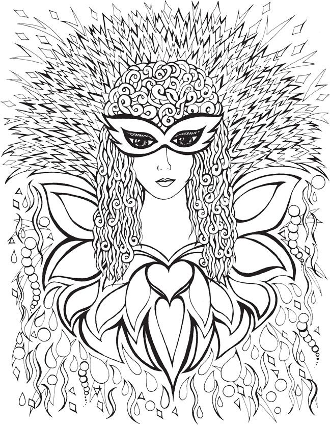 to dover publications creative haven fanciful faces coloring book