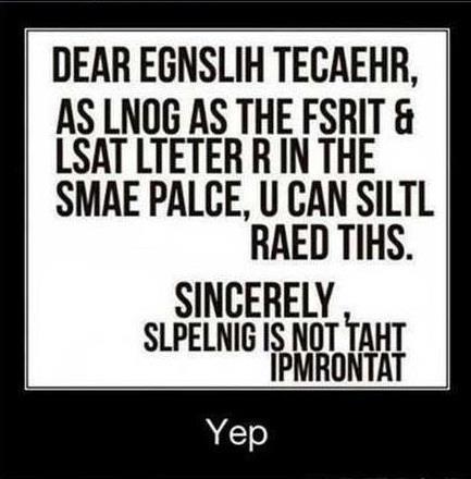 Dear English Teacher...
