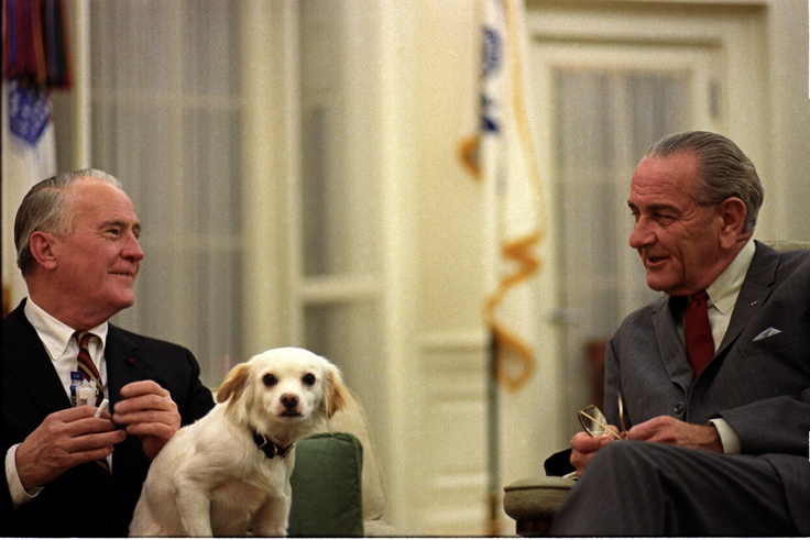 Image result for lbj holliing like a dog with grandchild