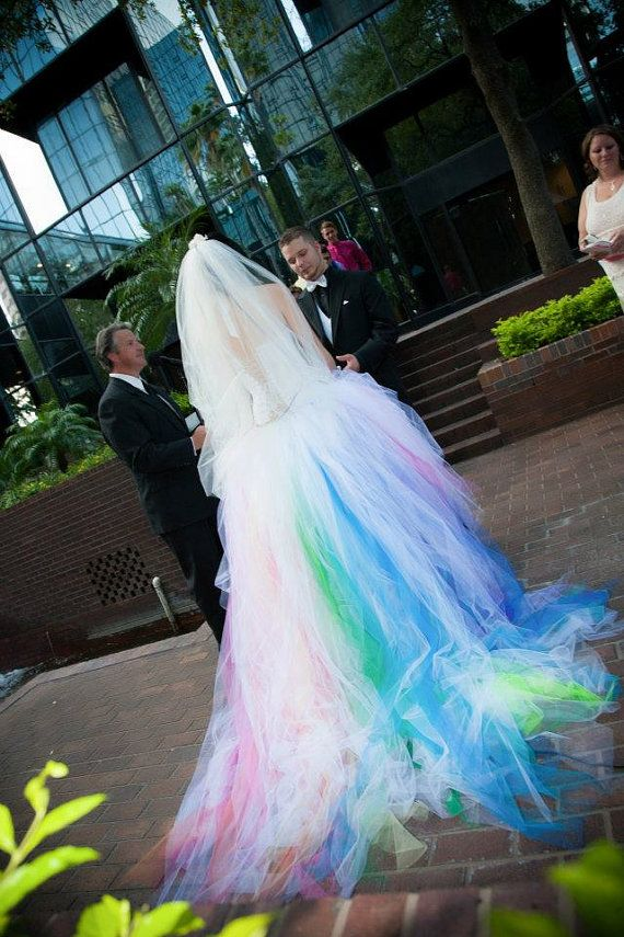 Rainbow Wedding Dress