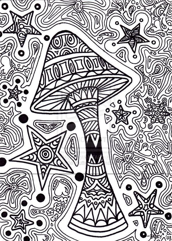 shroom coloring pages trippy coloring pages