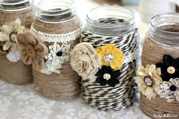 These adorable DIY jars have so many uses. Great tutorial and there's even a video for those visual learners. #diy