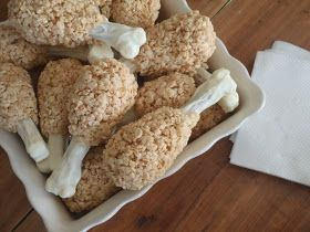 Turkey Leg Rice Krispie Treats. Such a cute idea for Thanksgiving!! #Fall #dessert
