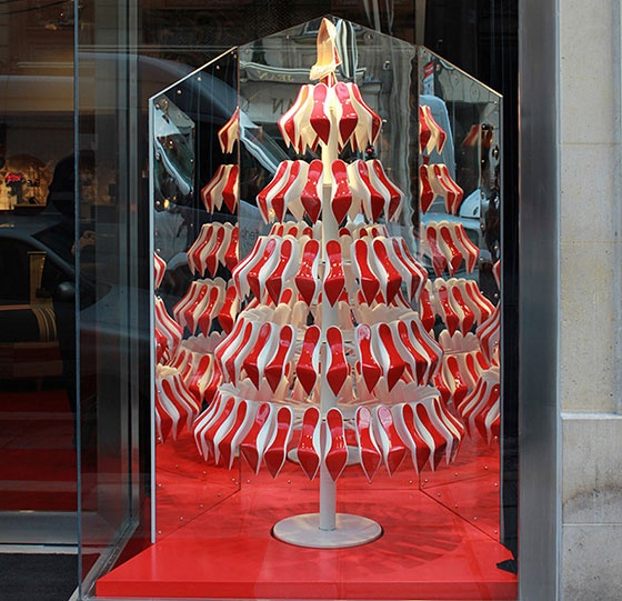 Louboutin Shoes Window Display