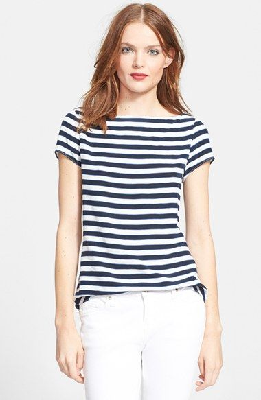 kate spade new york 'planetary stripe' silk blend top available at #Nordstrom