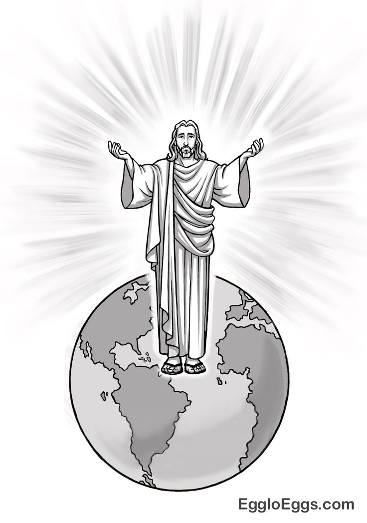jesus is the light of the world coloring page or graphic from egglo