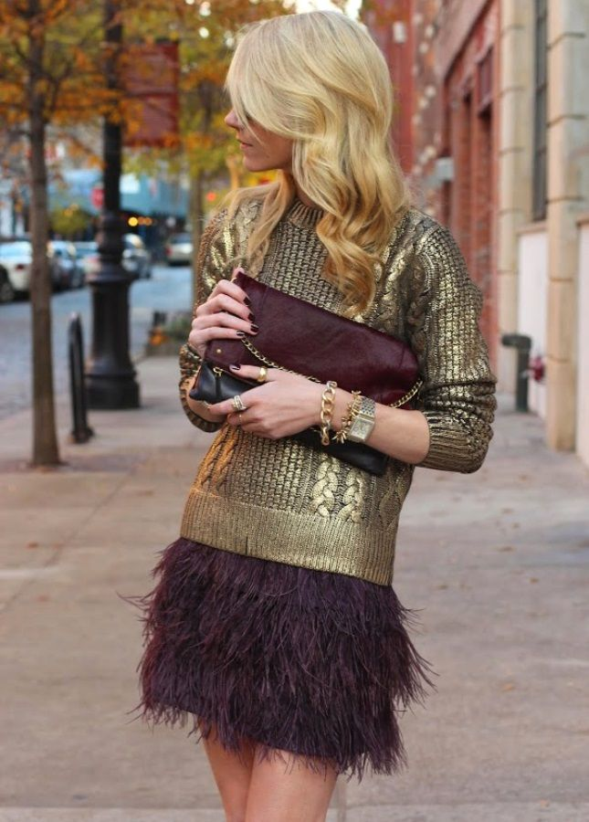 Swooning over this holiday outfit.