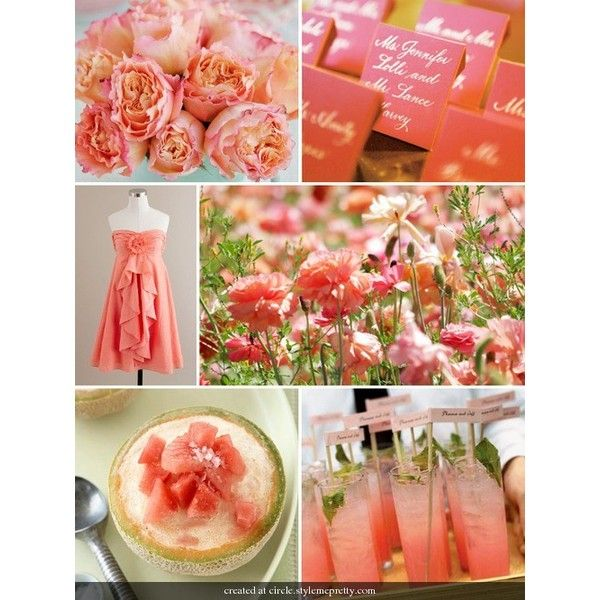 Your perfect days wedding chat color coral wedding decorations bing images found on polyvore junglespirit Gallery