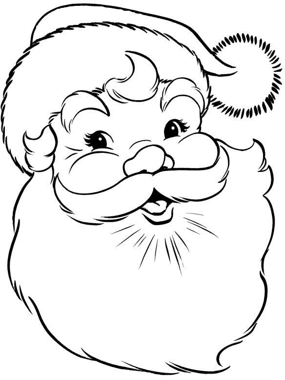 santa claus face coloring page kids coloring pages pinterest