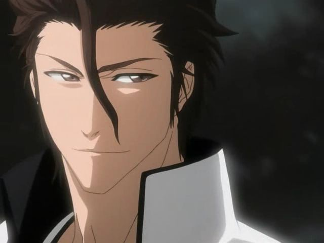 Captain Aizen...hmmm, well he is still a villain through and through but at least with this image he can model for magazines, lol.