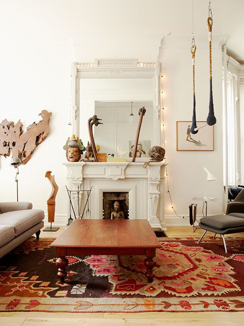Park Slope home of Sophie Demenge and Michael Ryan, co-founders of Oeuf .. steven alan