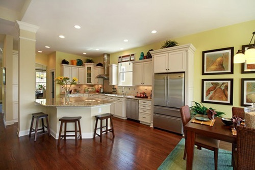 Open Concept Kitchen Walling Model Located Charlotte