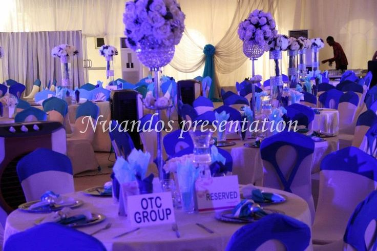 Royal blue decor ~ always amazing