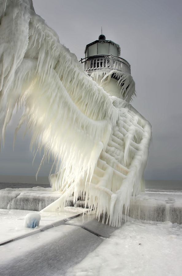 Frozen in high winds? That's some ice palace Photo by Thomas Zakowski